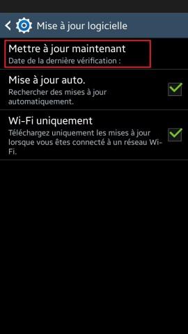 Samsung mise a jour 2