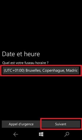 Activation Microsoft Lumia Windows 10 date et heure 6