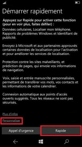 Activation Microsoft Lumia Windows 10 demarrage 10