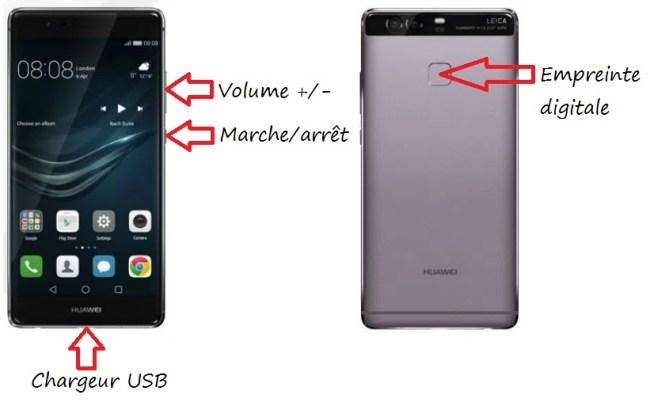 Huawei P9 bouton