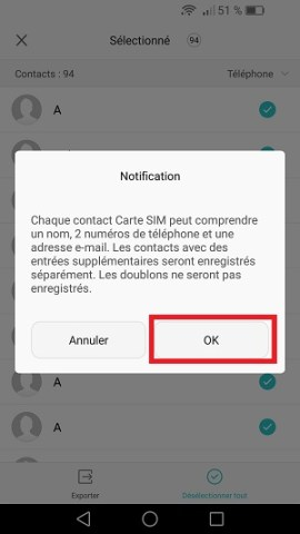 contact code pin ecran verrouillage Huawei (android 6.0)