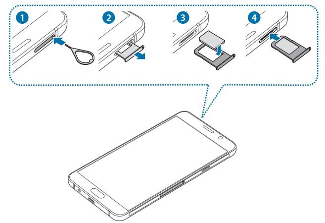 Insérer Carte SIM & Changer Code PIN :Samsung A5 2016