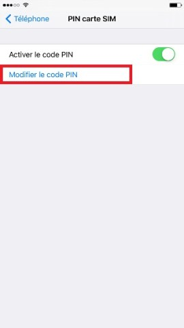 contact code pin ecran verrouillage iPhone 6 modifier code pin
