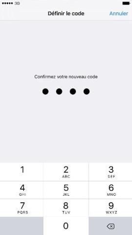 contact code pin ecran verrouillage iPhone 6