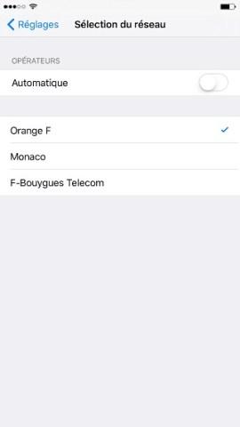 Échec réseau appel iPhone 6 6S plus SE