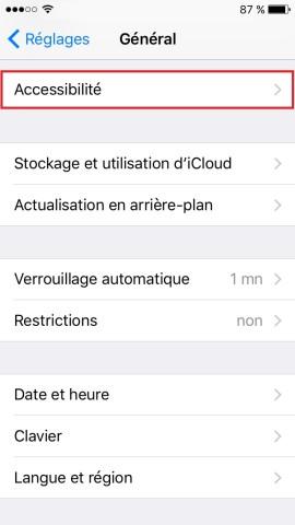 Trucs et astuces iPhone 6 6S plus SE-accessibilite