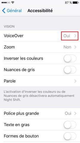 Trucs et astuces iPhone 6 6S plus SE-voiceover