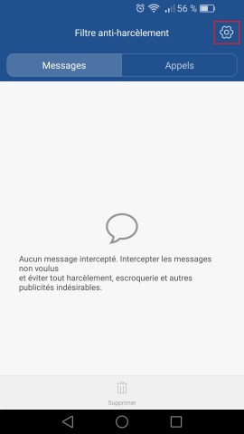 SMS Huawei android 6 . 0 anti spam