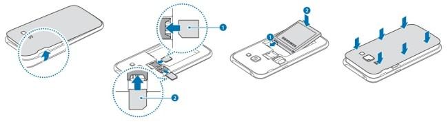 Samsung Galaxy J1 carte sim double