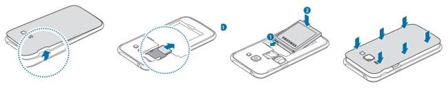 Samsung Galaxy J1 carte sim simple