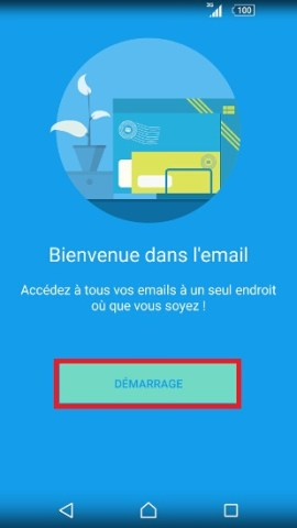 mail Sony android 6.0 mail demarrage