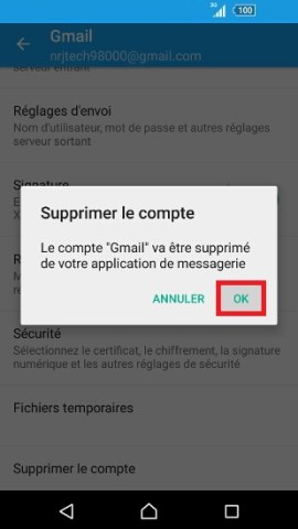 mail Sony android 6.0 mail supprimer compte 2