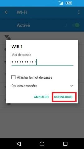 internet Sony android 6 . 0 mot de passe wifi