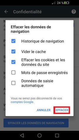 internet Huawei android 6 cache navigateur internet