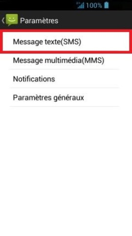 SMS Acer android 4 . 2 SMS parametre