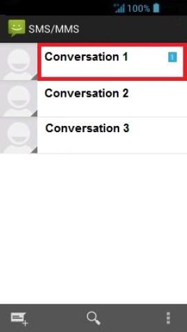 MMS Acer 4.2 conversation