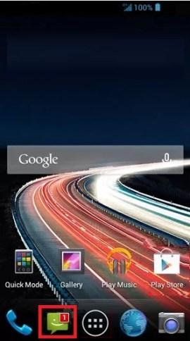 MMS Acer 4.2 message nouveau
