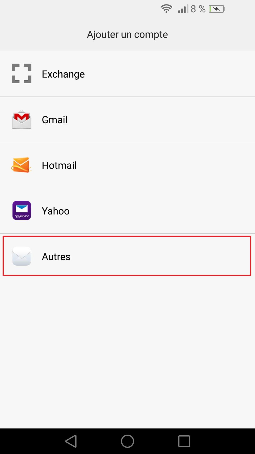 Création d'un compte mail configuration mail Huawei • mobidocs