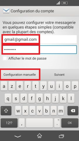 mail Sony android 4.4 config email