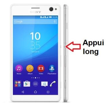 Sony Xperia C4 allumage