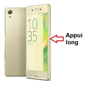 Sony Xperia X performance allumage