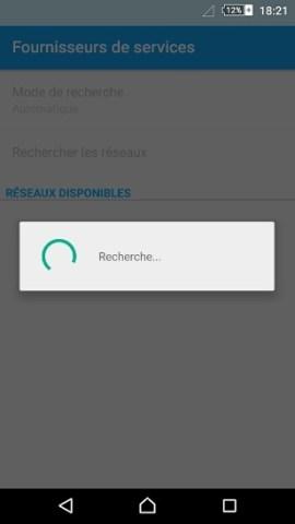 Échec réseau appel Sony android 5 . 1 reseau recherche