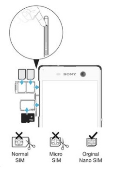 Carte SIM & Code PIN : Sony Xperia M5 • Mobidocs