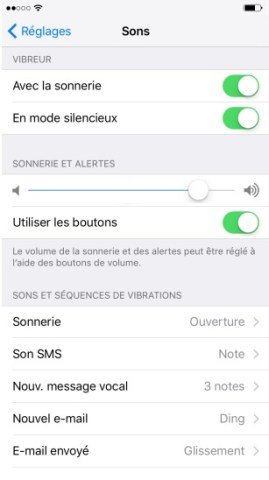Personnaliser iPhone 6 , 6S, Plus, SE sonnerie
