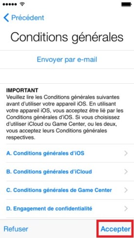 iphone 6 icloud condition accepter