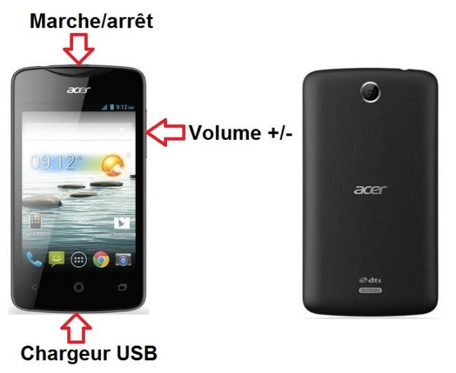 Acer Liquid Z3 bouton