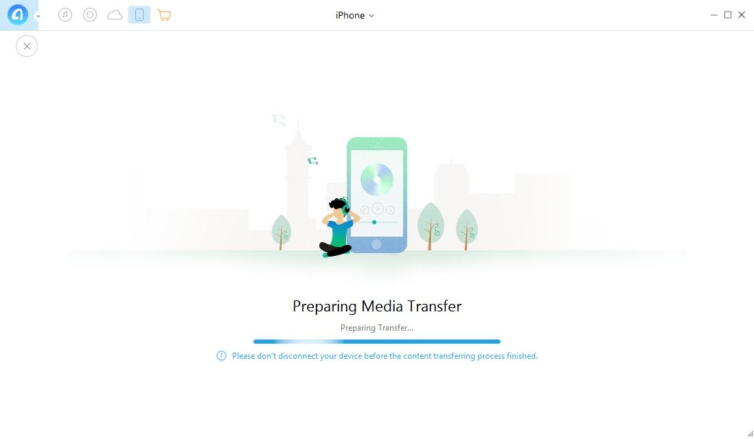 Anytrans iPhone 8 : Copier musiques, photos, sonneries