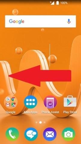 wiko android 6.0 contact code pin ecran verrouillage glisser