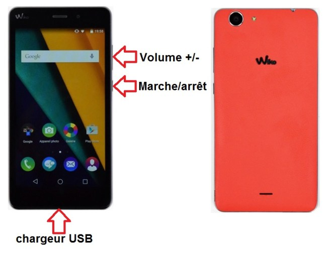Wiko Pulp 4G bouton
