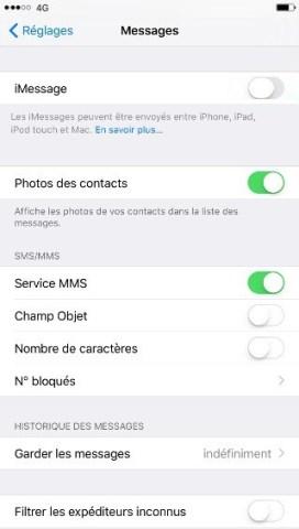 iPhone pour la vente desactiver