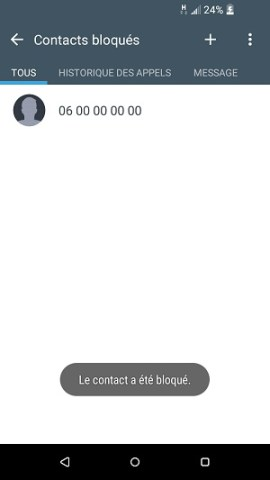 SMS HTC android 6 bloqué contact SMS
