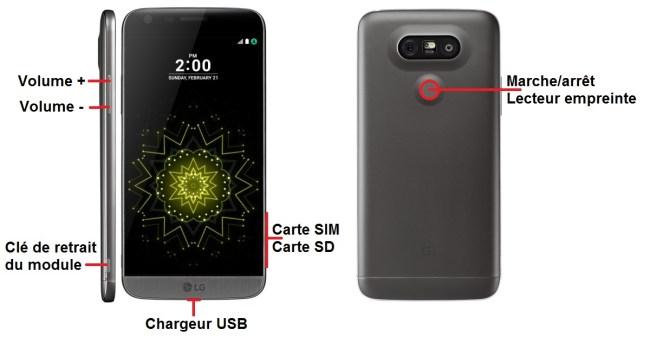 LG G5-bouton