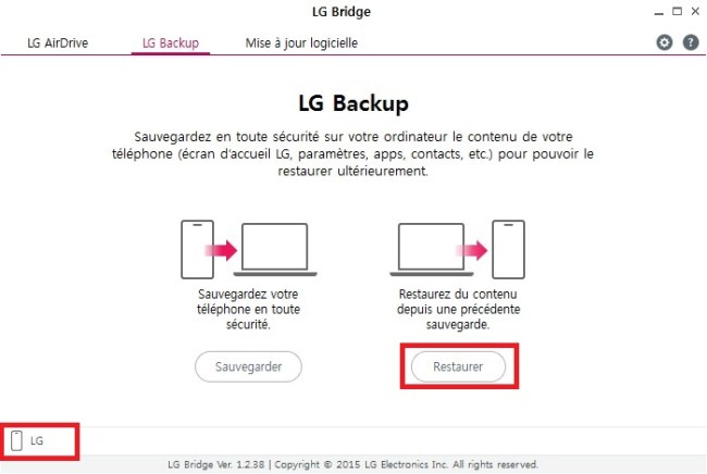 LG bridge restauration