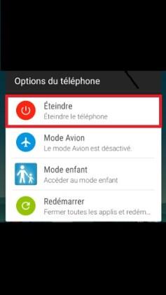 HTC Desire 728-eteindre