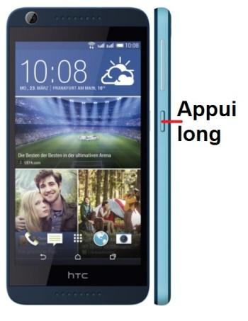 HTC Desire 626-allumage