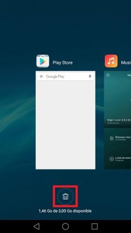 Trucs astuces Huawei Honor 7-appli-recente-corbeille