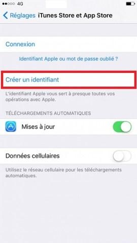 Compte apple créer identifiant