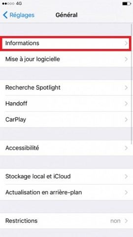 Applications iPhone 6 information
