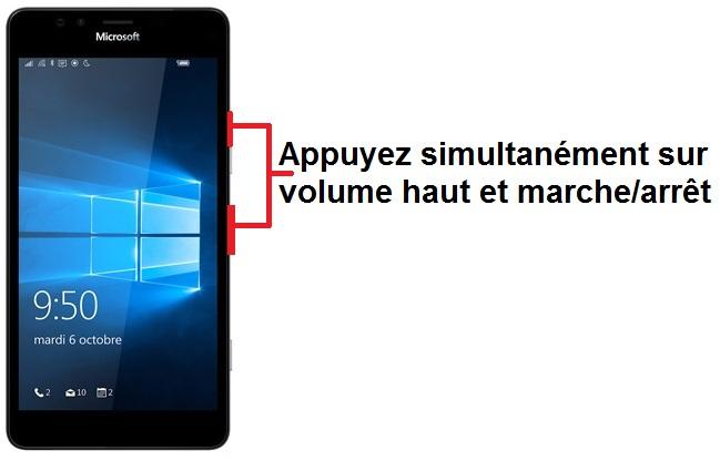 Microsoft Lumia 950 capture écran