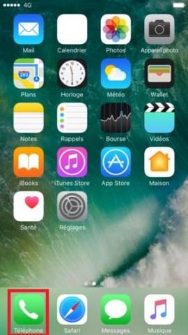 iPhone 7 telephone