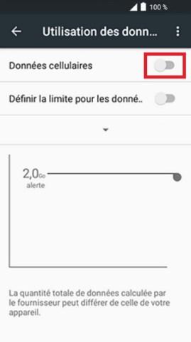MMS alcatel android 6.0 données cellulaires désactivé