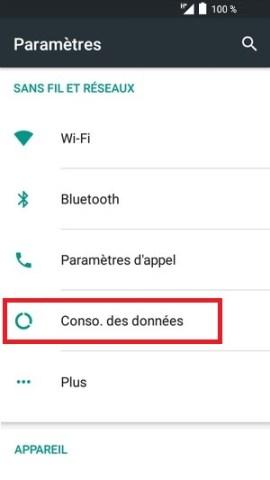 MMS alcatel android 6.0 conso des données