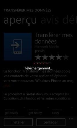 Transférer ses données Lumia téléchargement