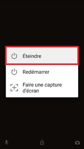 Sony Xperia XZ eteindre