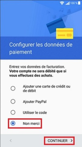 Activation Sony paiement