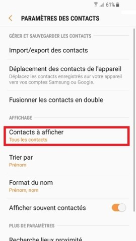 contact code pin ecran verrouillage Samsung (android 7.0)